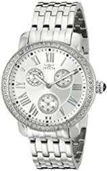 Invicta Women's 21411SYB Angel Stainless Steel Crystal-Accented Watch