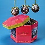 Set Of 12 Gift Boxed Thomas Kinkade Decoupage Christmas Ball Ornaments #TK0107