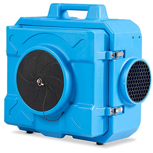 COSTWAY HEPA Industrial Commercial Air Scrubber, Heavy Duty Air Purifier, Air Machine for Water Damage Restoration Fire Disaster Interior Decoration, Air Filtration System Air Cleaner - Air Scrubber Industrial