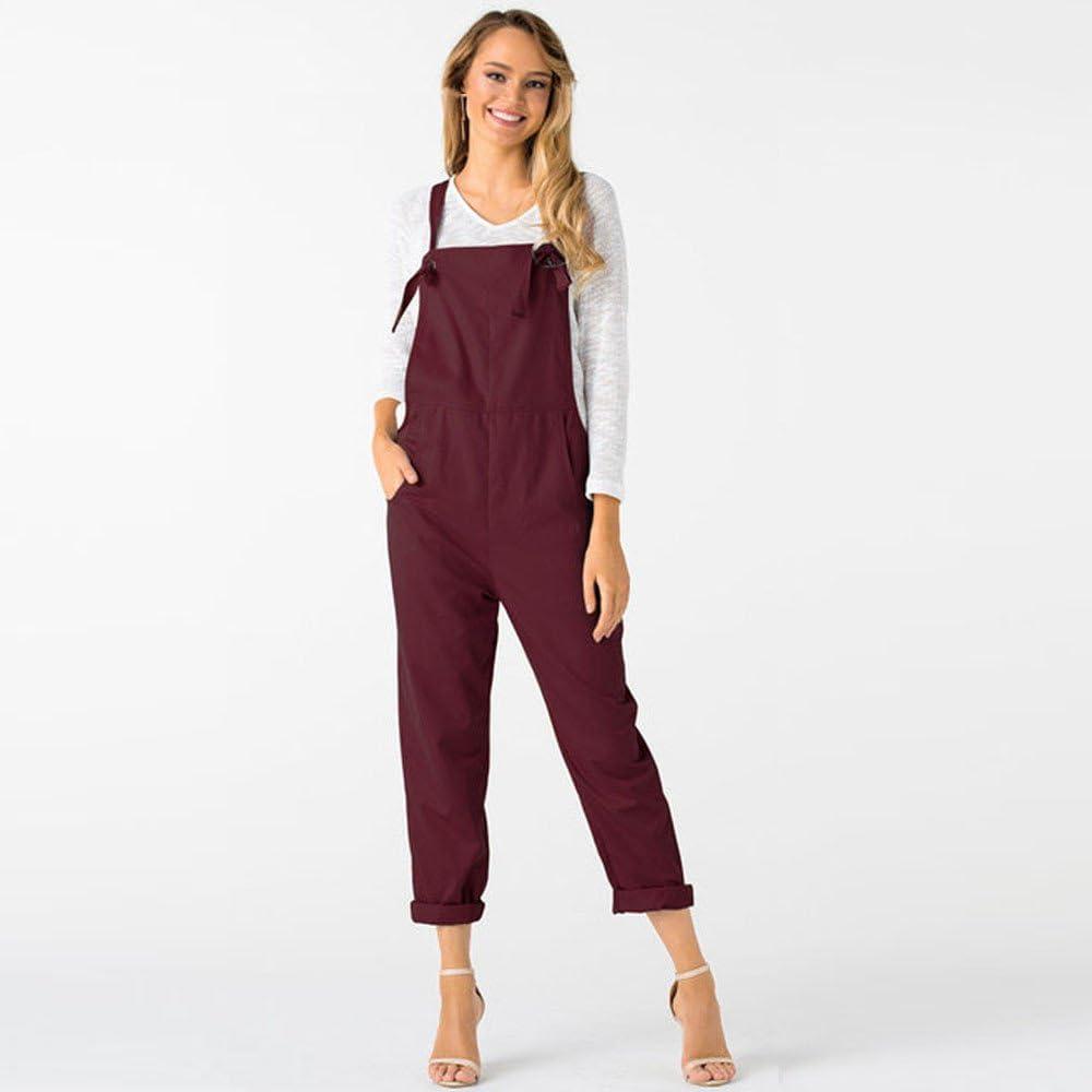 ITISME Jeanshosen Automne et Hiver Femme Femmes Strap Pantalon Large Vocation Salopettes Casual Combinaisons Barboteuses Pantalons