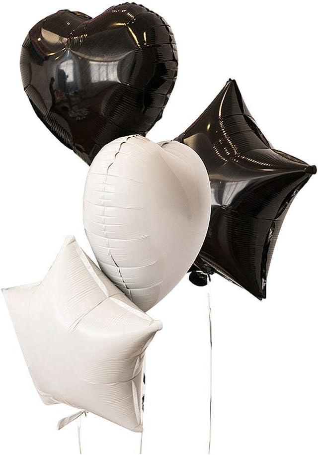 CozofLuv Lot de 25 ballons /à h/élium en forme de c/œur romantique pour anniversaire mariage demande