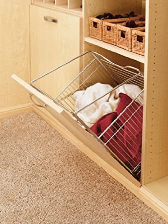 Rev A Shelf Tilt Out Hamper Basket, Chrome