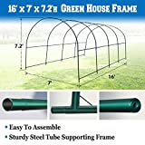 BenefitUSA Green House Replacement Spare Parts for 16'X7'X7'H Walk In Outdoor Plant Gardening Greenhouse (frame)