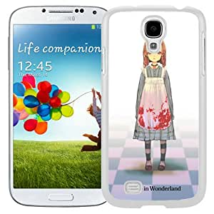 Popular And Unique Designed Cover Case For Samsung Galaxy S4 I9500 i337 M919 i545 r970 l720 With Alice Wonderland Girl Dress Blood white Phone Case