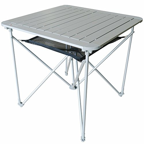 Portable Lightweight Outdoor Folding Table   Camping Aluminum Metal Collapsible Table - Fold Up (Aluminum Folding Table Square)
