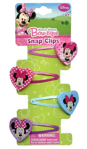 Minnie Mouse Hair Clips Pack