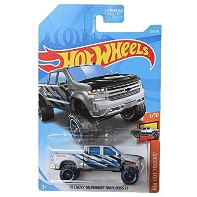 Hot Wheels Zamac '19 Chevy Silverado Trail Boss LT 83/250: Toys & Games