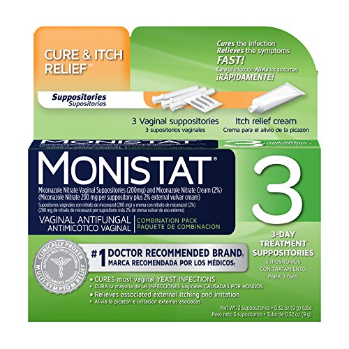 Monistat 3 vaginal antifungal combination pack 3 for Exterior yeast infection