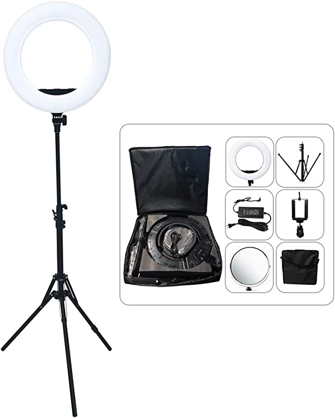 AX-480SII Yidoblo AX-480EII 5500K Warm /& Cold Bio-Color Camera Photo//Studio//Phone//Video 18 240 LED Ring Light LED Lamp Makeup Ring lamp