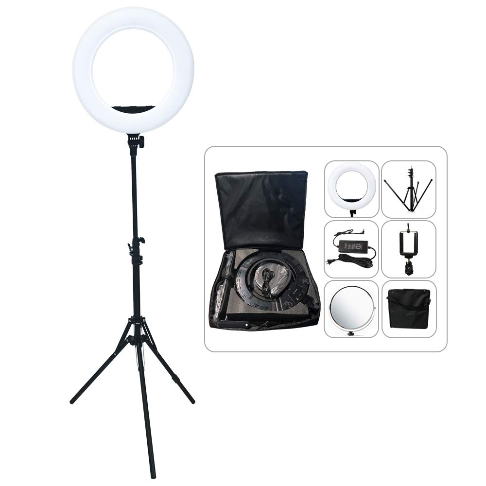 Yidoblo AX-480SII 18'' Dimmable Bio-Color LED Ring Light Lamp USB Charger F Makeup Camera Phone Photography Video Lighting 48W