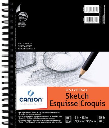 Canson Universal Sketch Pad 9X12 6 Pack by Canson