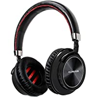 AOMAIS VOICE Bluetooth Headphones Over Ear, Wireless Foldable Sports Headset with Deep Bass for 10 Hours, Soft Memory-Protein Earmuffs, Built-in Mic for PC/iPhone/Tablets/TV