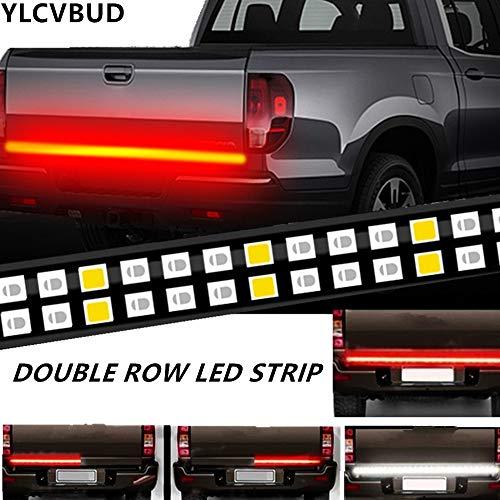 YLCVBUD 60 Inch Truck LED Tailgate Lights Bar Pickup Flexible Strip Bar Waterproof Red/White Reverse Back Up Running Lights, Brake Signal, for SUV RV Trailer