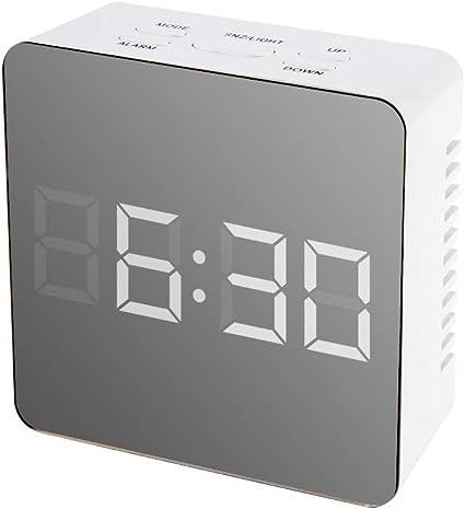 Colorful LCD Alarm Clock Night Lights Thermometer Digital Wall Clock LED Lamp