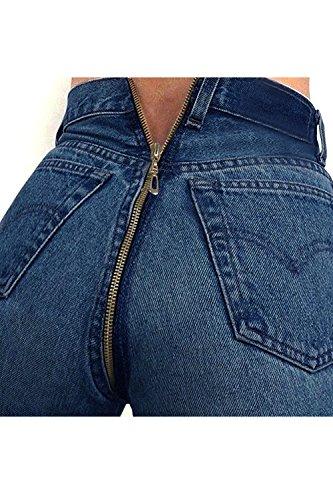 Spingere Donne DeepBlue Le Pantaloni Zip Scappando Jeans Pantaloni Indietro Elastico Cotone dvvqAX