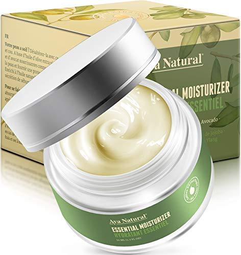 Aya Natural Face Moisturizer for Dry Skin - Vegan Skin Care Anti Aging Day Moisturizer Face Cream for Deep Hydration, Moisture & Glow (Premium)