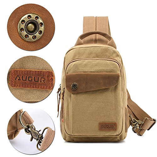 Augur B3 unisex Bag School Crossbody In Cycling Backpack Canvas 1 Bag Chest Sling Camping 3 Hiking yellow Shoulder Vintage Daypack Traveling For YYqrxR