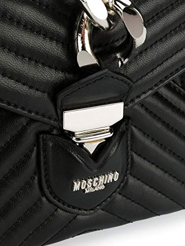 Pochette A843780021555 Cuir MOSCHINO Femme Noir I8qPPp