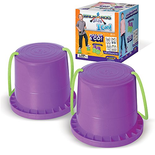 Geospace Walkaroo Ican Bucket Stilts, Purple, (1 Pair)