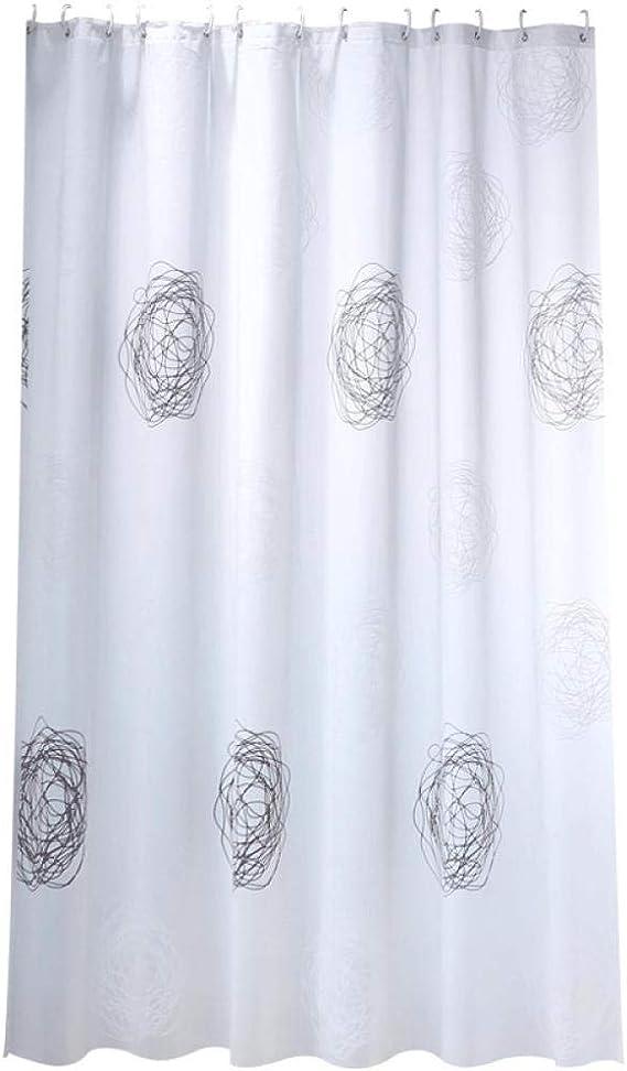 Cortina de Baño Decorativa Cortina de Ducha Blanca Impermeable Moho Cortina de Ducha Mampara de Baño-120x180cm: Amazon.es: Hogar
