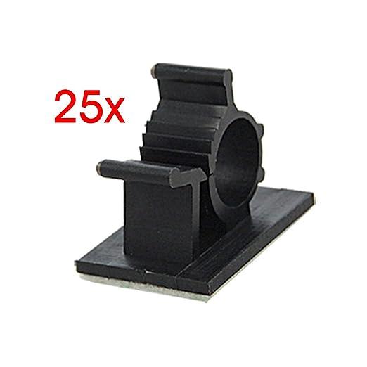 39 opinioni per SODIAL(R) 25 pz clip perma cavo filo regolabile adesivo nero