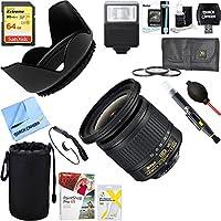Nikon 20067 AF-P DX NIKKOR 10-20mm f/4.5-5.6G VR Lens + 64GB Ultimate Filter & Flash Photography Bundle