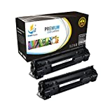 Catch Supplies Replacement CF283A JUMBO Yield Black Toner Cartridge 2 Pack for the HP 83A series |2,500 yield| compatible with the HP LaserJet Pro MFP M125, M126, M127, M128, M225, M201, M202