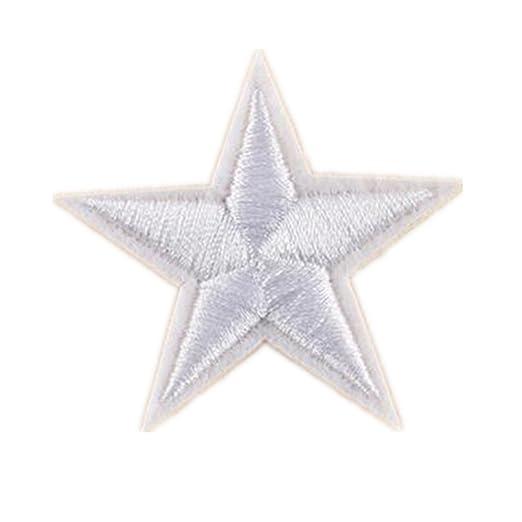 ximkee (Pack de 20) Star Collection bordado Sew hierro en parches ...