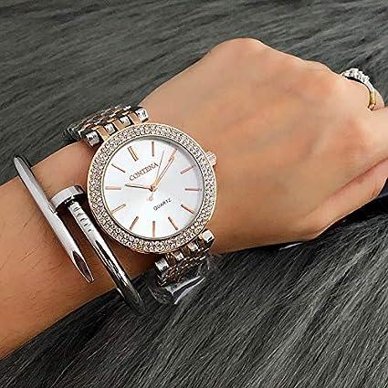 WZFCSAEAE 2018 Relogio Feminino Luxury Brand Contena Relojes Mujer Relojes Reloj de Cuarzo de Acero Diamantes