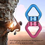 Swing Swivel, AusKit Safest Rotational Device Hanging Accessory with Carabiners For Web Tree Swing, Swing Setting, Aerial Dance, Children's Swing, Hanging Hammock