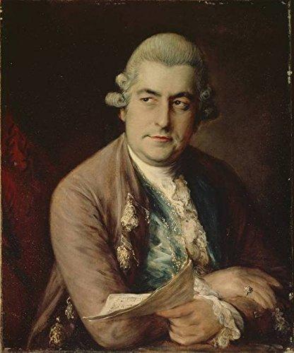 Wall Art Print entitled Johann Christian Bach, 1776 by The Fine Art Masters | 8 x 10