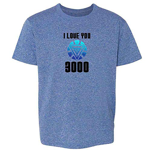- I Love You 3000 Father's Day Superhero Heather Royal Blue 2T Toddler Kids T-Shirt