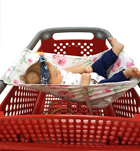 Best Review Of Binxy Baby Shopping Cart Hammock (Full Bloom)