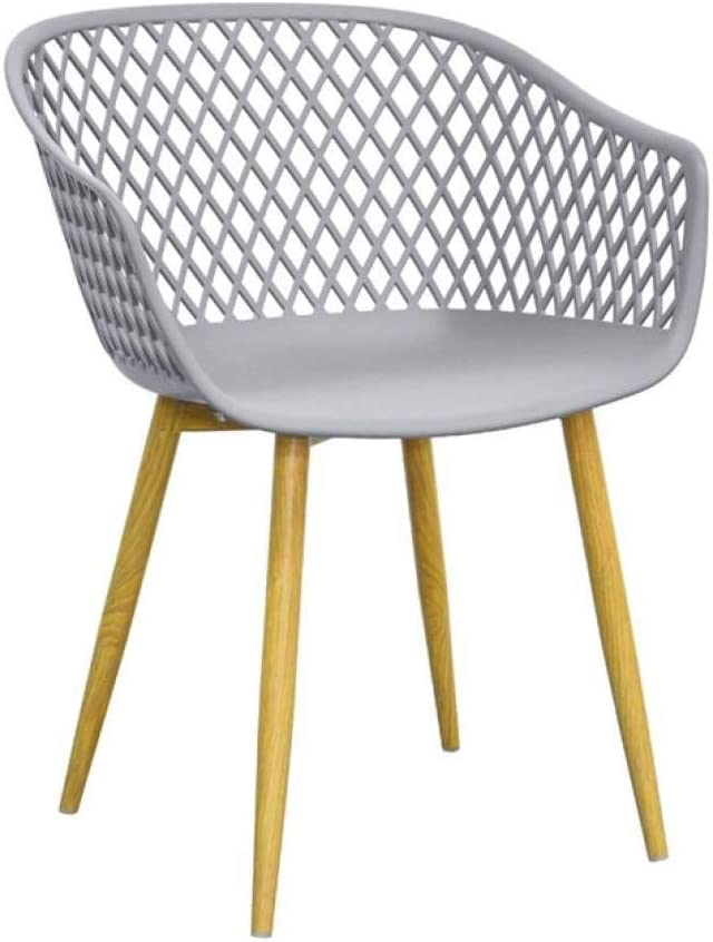 extra gro/ß Holz Zons Tango-St/ühle Design grau F/ü/ße aus Metall
