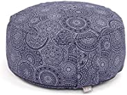 Bodhi | Zen Meditation Cushion Rondo | Yoga | Round Pouf Floor Pillow | Maharaja Prints Collection: 100% Cotto