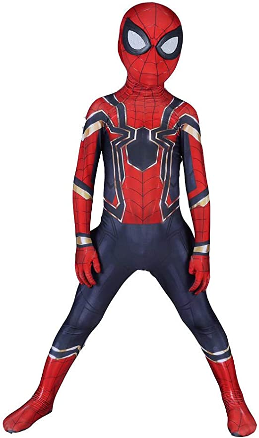 Spiderman Cosplay Full Body Tights Costume Adult Kids Fancy Dress Spider MAN
