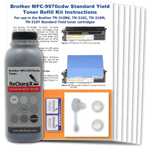 Standard Yield Refill - Brother MFC-9970cdw Standard Yield Black Toner Refill Kit