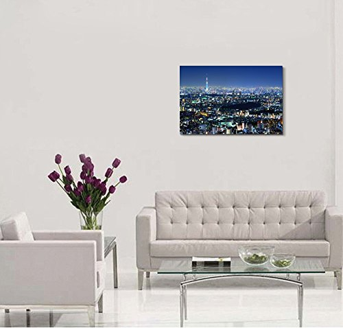 Beautiful Tokyo Cityscape at Night Wall Decor