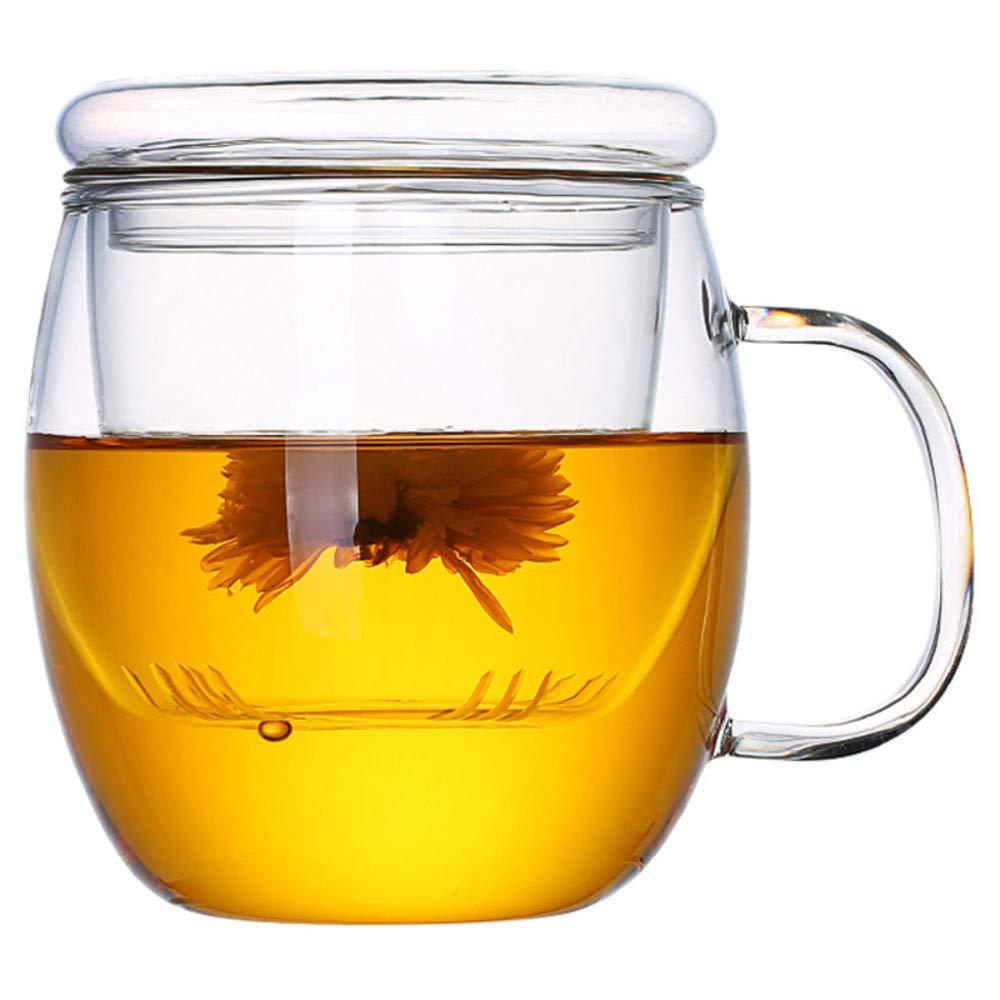 ROKTONG Teiera Teiera di Vetro,Bicchiere di Vetro Resistente al Calore con Filtro per La Separazione del tè in Vetro da 350 Ml Prezzi