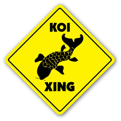 [SignJoker] KOI CROSSING Sign xing gift japanese gold fish pond food supplies feed Wall Plaque Decoration