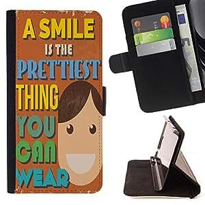 King Case - FOR Apple Iphone 5C - think you can wear - Prima caja de la PU billetera de cuero con ranuras para tarjetas, efectivo Compartimiento desmontable y correa para la mu?eca