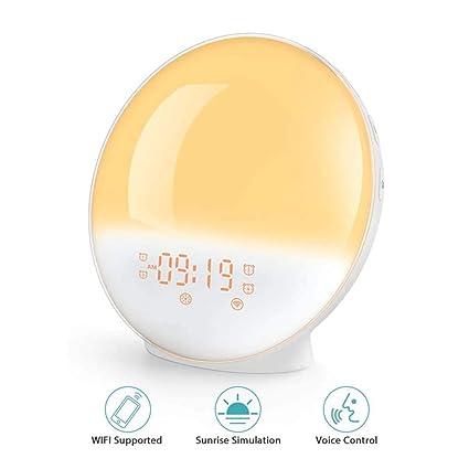 XJYA Reloj Despertador al Amanecer,Luz Inteligente para ...