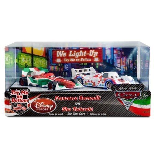 Francesco Bernoulli vs. Shu Todoroki Light-Up Racing Rivals Die Cast Cars Set: Disney Pixar Cars 2 Series