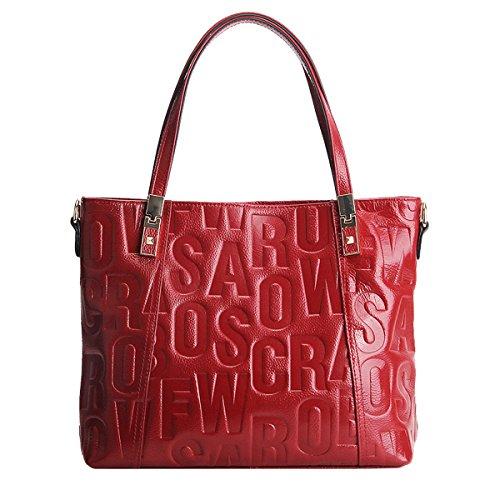 E femme 1832 cuir Girl fashion en bandoulière portés Rouge épaule Sac portés Sac main à main Sac Sac LF KK1ryC