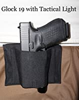 Don't Tread on Me Conceal and Carry Holsters BH3 DTOM Bedside, Bed Side Holster for Gun with Attached Tactical Light or Laser-Ambidextrous