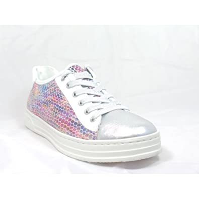 6d206e94ed30 ARA 12-37455 Courtyard Silver, White and Multi Leather Lace-Up Casual Shoe:  Amazon.co.uk: Shoes & Bags