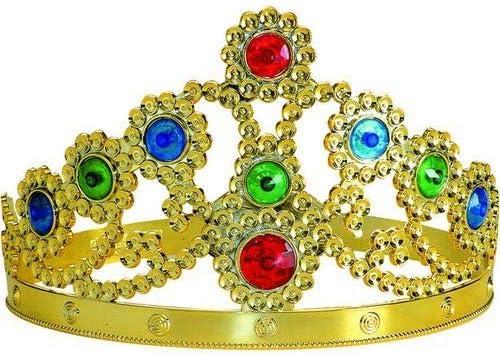 CREATIVE Corona de plástico Reina de Oro con la joya: Amazon.es: Juguetes y juegos