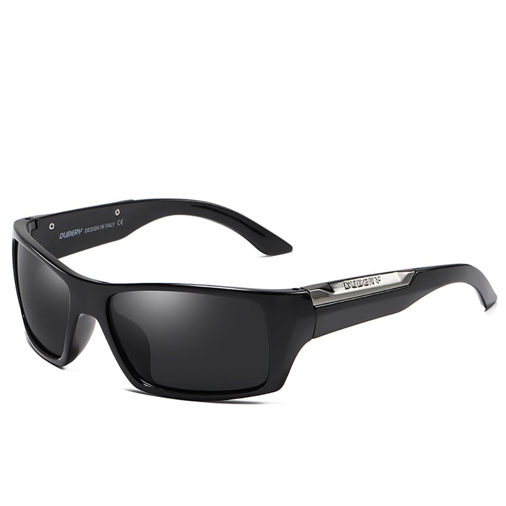 DUBERY New Mens Polarized Sport Sunglasses Outdoor Riding Coating Summer Goggles (#1) by DUBERY