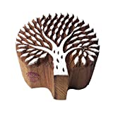 Handcrafted Floral Design Beach Tree Wooden Stamp
