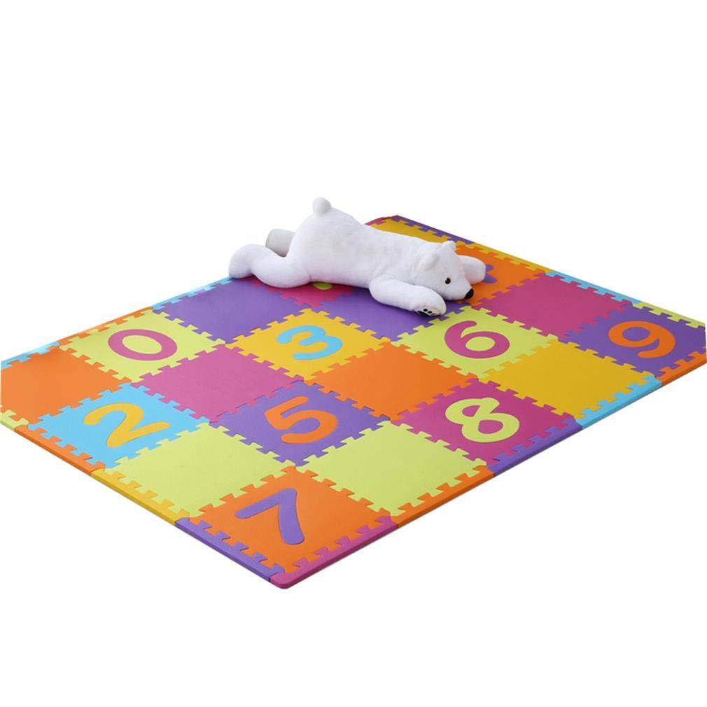 B ALUK- Tapis De Sol en Mousse Jouets for Enfants Puzzle De Dessin Animé Puzzle Tapis De Sol Lettre NuméRique